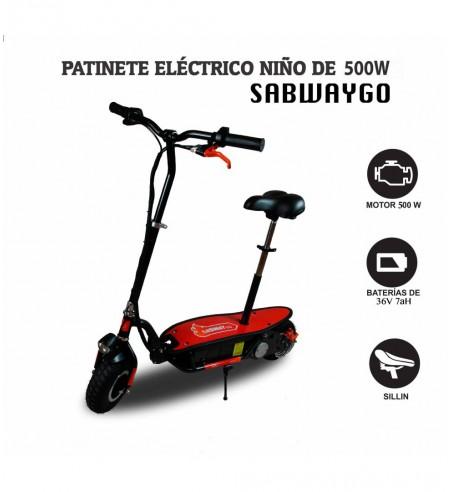 Patinete eléctrico SabwayGo 500W | Patinetes eléctricos niños